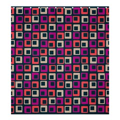 Abstract Squares Shower Curtain 66  x 72  (Large)