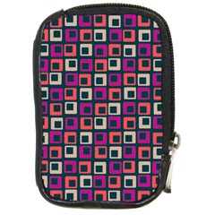 Abstract Squares Compact Camera Cases