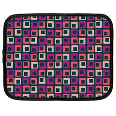Abstract Squares Netbook Case (XL)