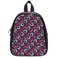Abstract Squares School Bags (Small)