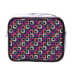 Abstract Squares Mini Toiletries Bags