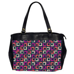 Abstract Squares Office Handbags (2 Sides)