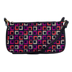 Abstract Squares Shoulder Clutch Bags