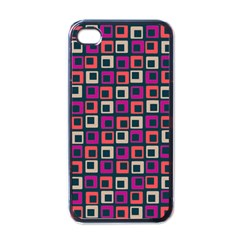 Abstract Squares Apple iPhone 4 Case (Black)