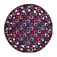 Abstract Squares Ornament (Round Filigree)