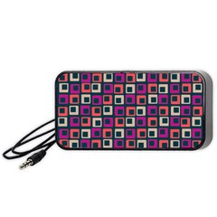 Abstract Squares Portable Speaker (Black)