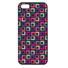 Abstract Squares Apple iPhone 5 Seamless Case (Black)