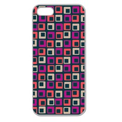 Abstract Squares Apple Seamless iPhone 5 Case (Clear)