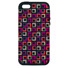 Abstract Squares Apple iPhone 5 Hardshell Case (PC+Silicone)
