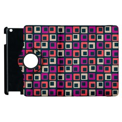 Abstract Squares Apple iPad 3/4 Flip 360 Case