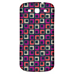 Abstract Squares Samsung Galaxy S3 S III Classic Hardshell Back Case