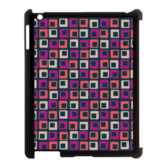 Abstract Squares Apple iPad 3/4 Case (Black)