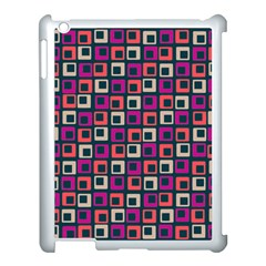 Abstract Squares Apple iPad 3/4 Case (White)
