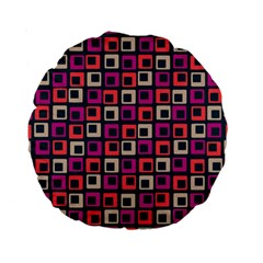 Abstract Squares Standard 15  Premium Round Cushions