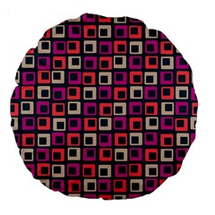 Abstract Squares Large 18  Premium Round Cushions