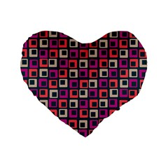 Abstract Squares Standard 16  Premium Heart Shape Cushions