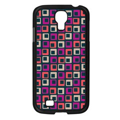Abstract Squares Samsung Galaxy S4 I9500/ I9505 Case (Black)