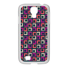 Abstract Squares Samsung GALAXY S4 I9500/ I9505 Case (White)