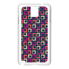 Abstract Squares Samsung Galaxy Note 3 N9005 Case (White)