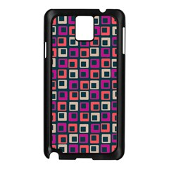 Abstract Squares Samsung Galaxy Note 3 N9005 Case (Black)
