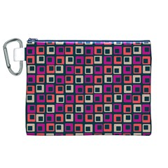 Abstract Squares Canvas Cosmetic Bag (XL)