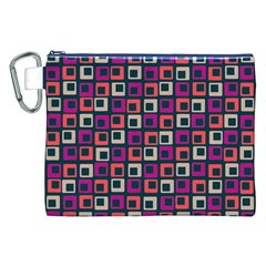 Abstract Squares Canvas Cosmetic Bag (XXL)