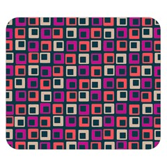 Abstract Squares Double Sided Flano Blanket (Small)