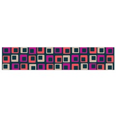 Abstract Squares Flano Scarf (Small)
