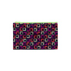 Abstract Squares Cosmetic Bag (XS)