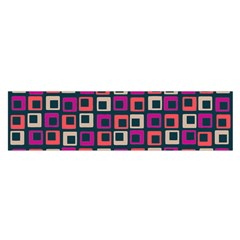 Abstract Squares Satin Scarf (Oblong)