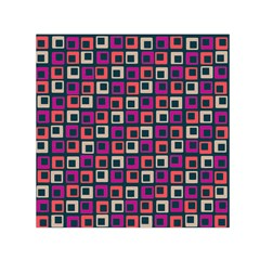 Abstract Squares Small Satin Scarf (Square)