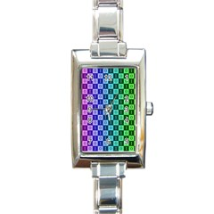 Checker Number One Rectangle Italian Charm Watch