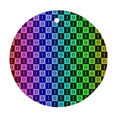 Checker Number One Ornament (Round)