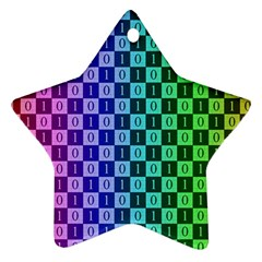 Checker Number One Ornament (Star)