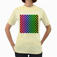 Checker Number One Women s Yellow T Shirt