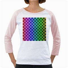 Checker Number One Girly Raglans