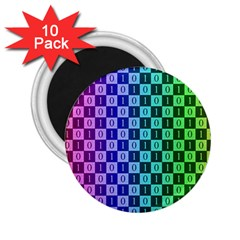 Checker Number One 2.25  Magnets (10 pack)