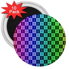 Checker Number One 3  Magnets (10 pack)