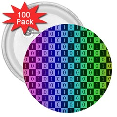 Checker Number One 3  Buttons (100 pack)