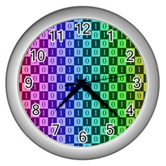 Checker Number One Wall Clocks (Silver)