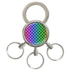 Checker Number One 3-Ring Key Chains