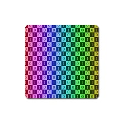 Checker Number One Square Magnet