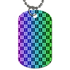Checker Number One Dog Tag (Two Sides)