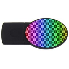 Checker Number One USB Flash Drive Oval (1 GB)