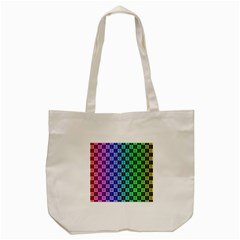 Checker Number One Tote Bag (Cream)