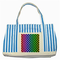 Checker Number One Striped Blue Tote Bag