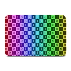 Checker Number One Plate Mats