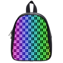Checker Number One School Bags (Small)