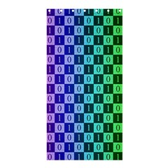 Checker Number One Shower Curtain 36  x 72  (Stall)