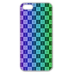 Checker Number One Apple Seamless iPhone 5 Case (Clear)